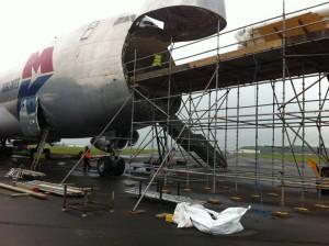Scaffolding a 747